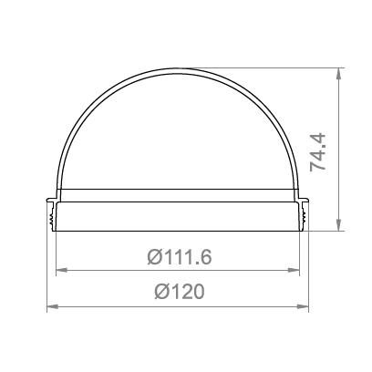 4.4寸螺紋球罩